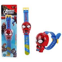 New Electronic Kids Toys Watch The Avengers 3 Spiderman Hulk Ironman Starwars Figure Model Toys Children Brinquedo Birthday Gift