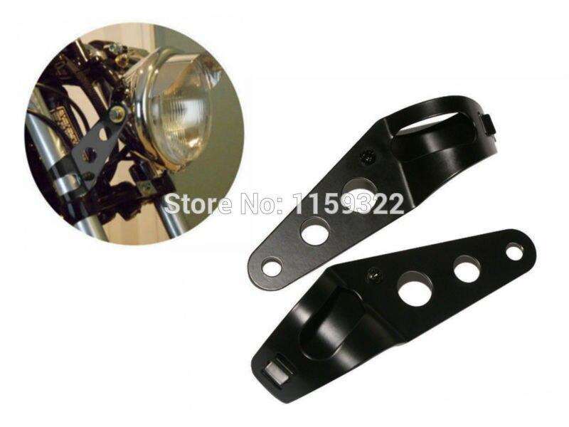 35MM-43MM Black Headlight Mounting Bracket Head Lamp Holder Mount Fork Clamp For Honda Aprilia Chopper Bobber Cafe Racer Custom