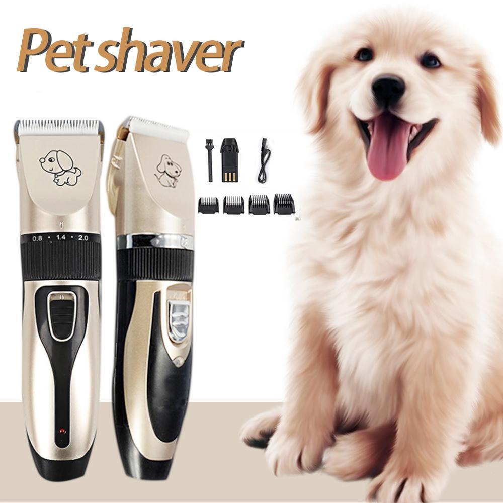 2019 Rechargeable à faible bruit tondeuse à cheveux pour animaux de compagnie décapant coupeur toilettage chat chien tondeuse à cheveux électrique animaux de compagnie cheveux coupe Machine
