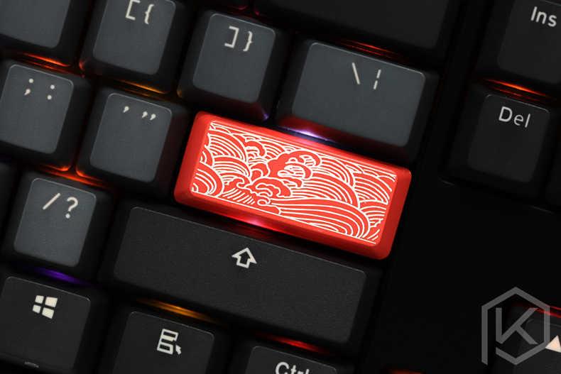 ノベルティ透けキーキャップ ABS エッチング、シースルー日本波のためのカスタムメカニカルキーボード入力 2.25u