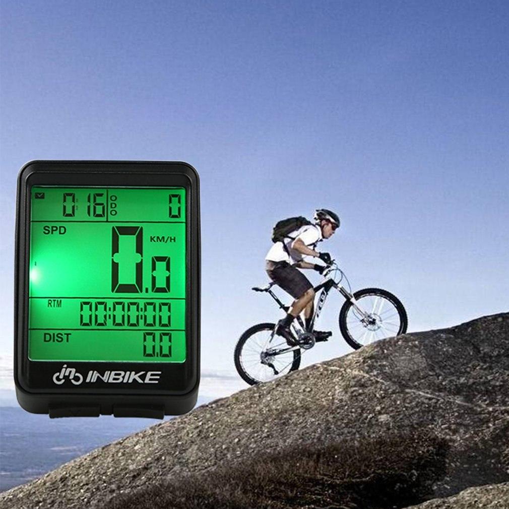 Alambre/inalámbrica ciclismo bicicleta ordenador bicicleta LED velocímetro odómetro retroiluminación pantalla LCD tacómetro impermeable