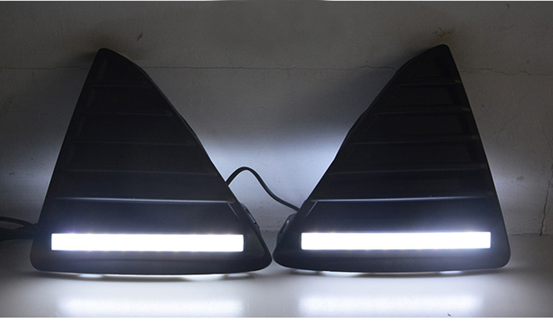 ФОТО 12W Led Headlight DRL Driving Fog Lamps Car Daytime Running Light High Power Led Day Light for Focus 2012 2013 2014