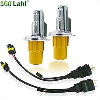 Ouro New H4 Bi Xenon ESCONDEU kit de Conversão de Faróis de Automóveis Lâmpadas Auto Luz Do Carro Lâmpada de 55 W 6000 K