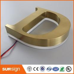 Outdoor LED Backlit 3D Brief metalen backlit led belettering borden
