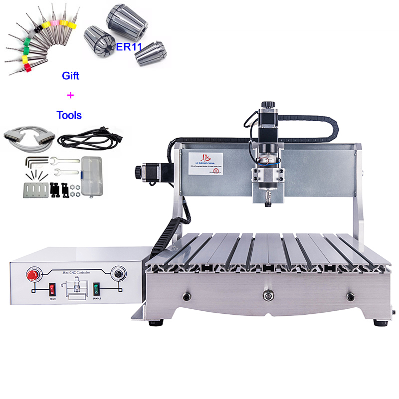 US $889 35 23% OFF|Cheap CNC Wood Carving Machine 300W PCB Milling Machine  Ball Screw CNC Router 6040-in Wood Routers from Tools on Aliexpress com |