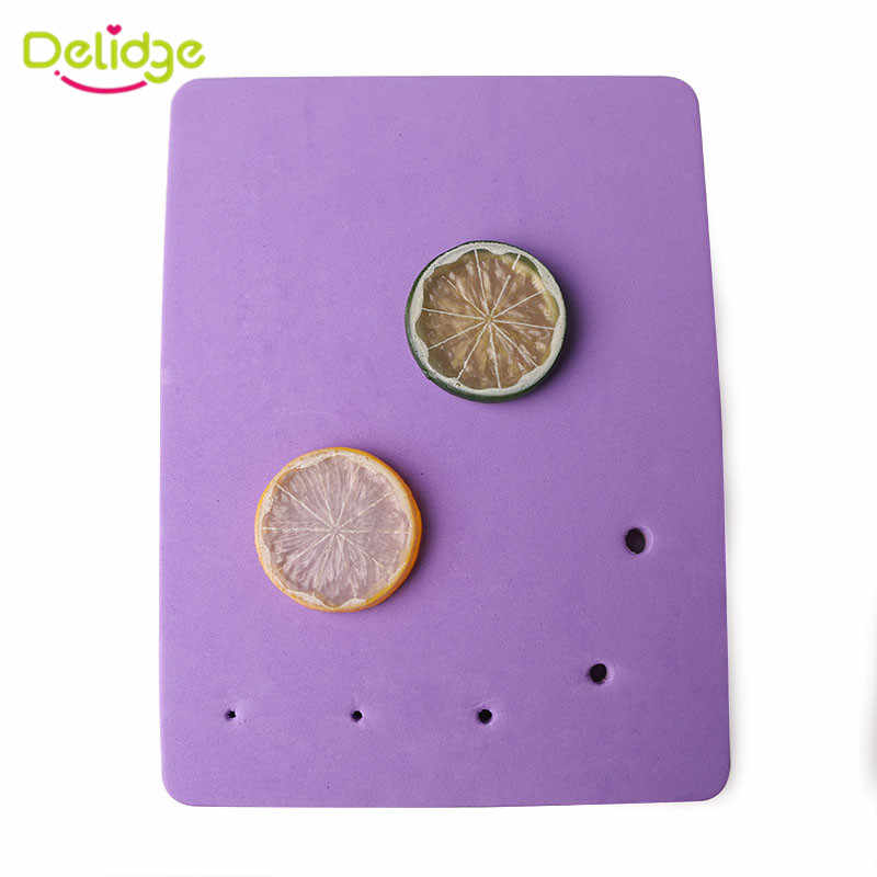 Delidge 1 قطعة خمسة حفرة مربعة الشكل زهرة النمذجة فندان كعكة رغوة قطعة تنظيفٍ إسفنجية معجون اللبان تزيين حصيرة لصنع الزهور أداة