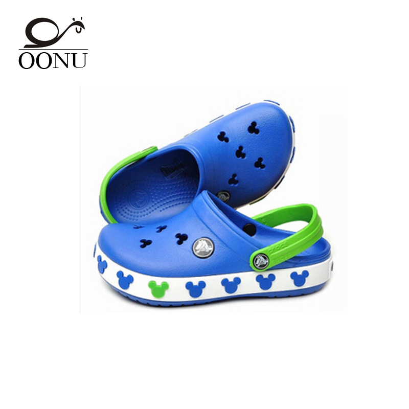 OONU 2017 Toddler summer style Cr Brand children s sandals 3D cartoon Mickey Minnie boys girls