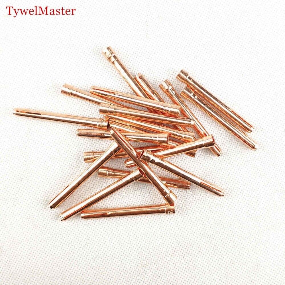 20pcs/6pcs Argon Welding TIG Torch Consumable 1.0mm 1.6mm 2.0mm 2.4mm 3.0mm 3.2mm TIG Tungsten Electrode Collet