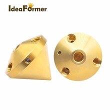 3D yazıcı 3 in 1 out memesi çok renk pirinç ekstruder elmas hotend 0.4mm 1.75mm Filament Reprap 3D yazıcı parçaları