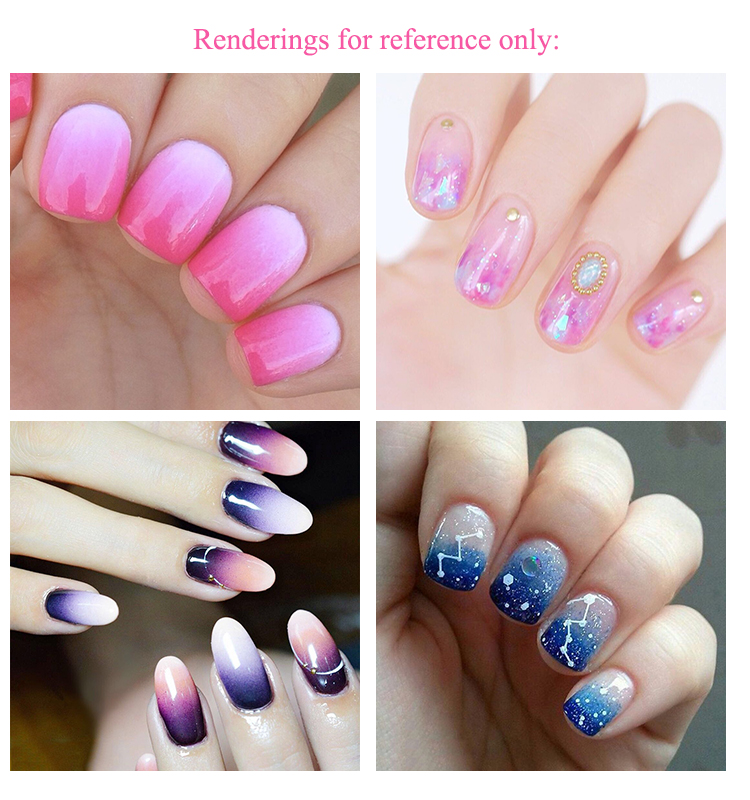 1Pcs Nail Art Brush Gradient Fade Color For Acrylic Crystal UV Gel ...