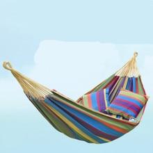 Outdoor Hammock Adult/Children Single/Double Anti rollover Fabric Canvas Hammock Student Hanging Chair colgante hangmat