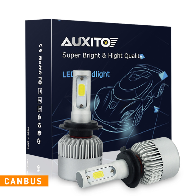 AUXITO 2x For Volkswagen GTI Beetle 2006-2009 No Error COB H7 LED Headlights Bulb CANBUS Car Headlamp Fog Light 16000LM 6000K volkswagen new beetle 2005 2009 кабриолет