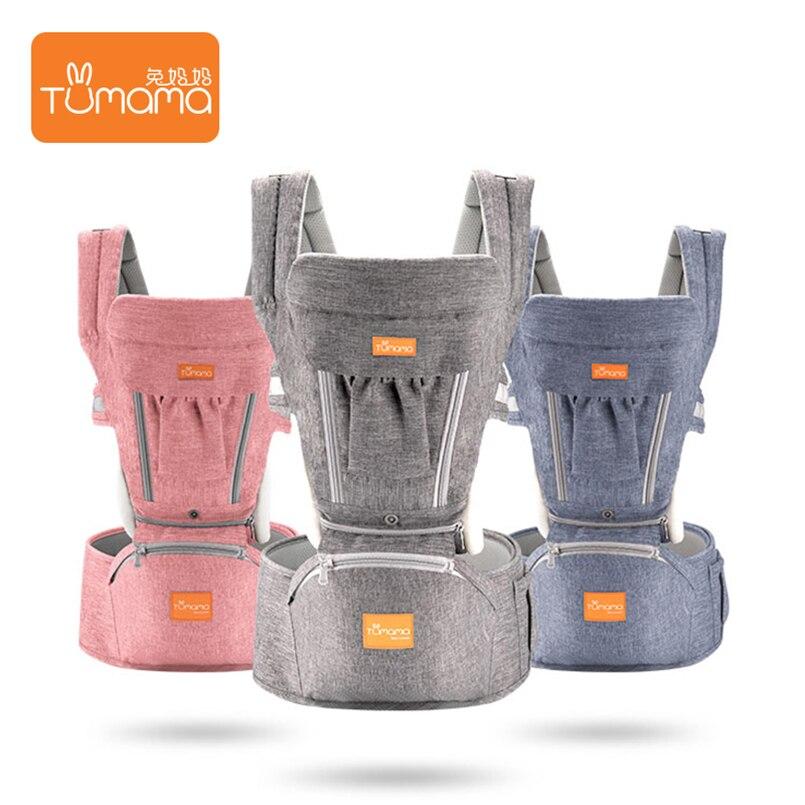 Tumama Portable bébé sacs à dos pliable porte-bébé infantile Hipseat avant face sac à dos transporteurs pour enfants attache kangourou pour bébé fronde - 4