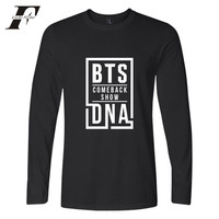 LUCKYFRIDAYF 2017 BTS NEW SONG DNA Kpop T Shirt Women Cotton Tshirt Homme Long Sleeve Autumn