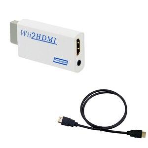 Image 2 - Wii para HDMI Conversor Suporte Wii2HDMI FullHD 720P 1080P 3.5 milímetros de Áudio Adaptador para HDTV Conversor Wii