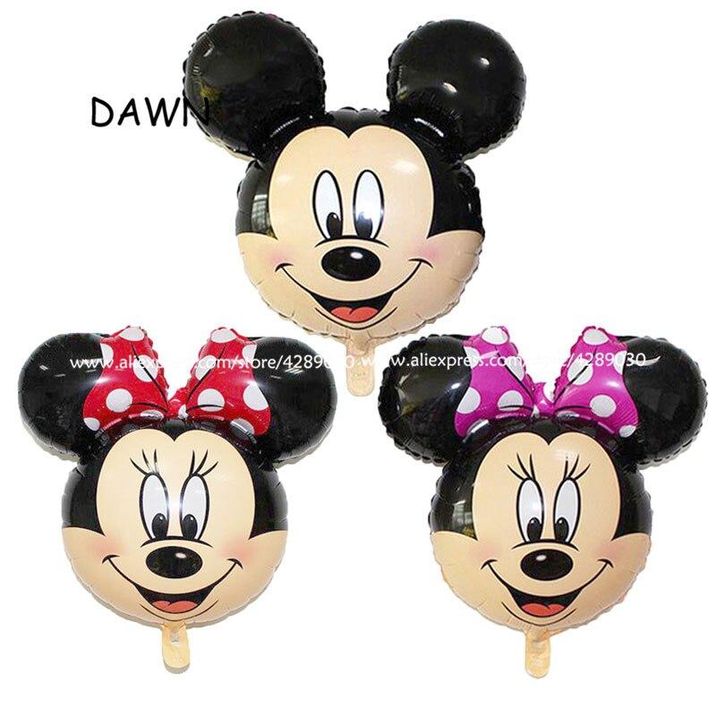 Venta al por mayor 50 unids/lote 64*69 cm Minnie Mickey globo de cumpleaños de mickey mouse globos de cabeza de minnie mouse de helio fiesta globo-in Globos y accesorios from Hogar y Mascotas on AliExpress - 11.11_Double 11_Singles' Day 1