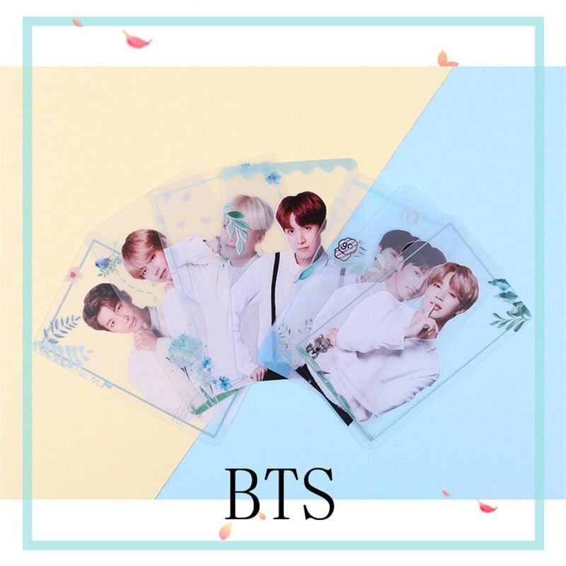 SGDOLL Kpop BTS Transparent Cards TPU Bangtan Boys Suga Jimin Jungkook Photo 7pcs/set цена