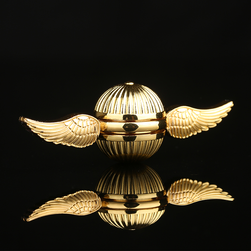 New Hand Spinners Golden Snitch Harry Potter Fans Gyro Metal Alloy Spiners Antitress Wheel Toy Cube Spinning Top LED