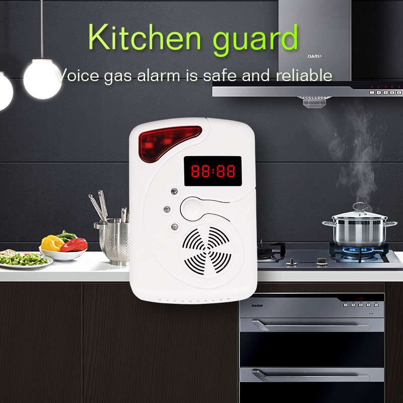 Home Security Voice Warning High Sensitive LCD Photoelectric Independent CO Gas Sensor Carbon Monoxide Poisoning Alarm