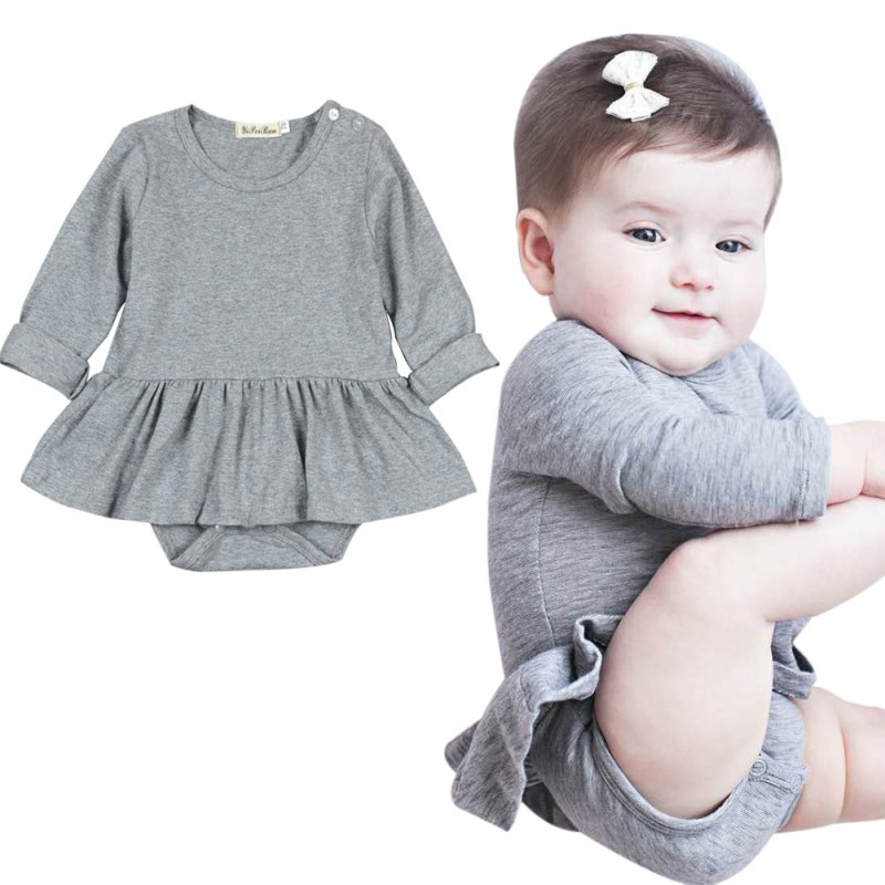 Newborn Baby Girl Long Sleeve Romper Bodysuit Jumpsuit Outfits Sunsuit Clothes