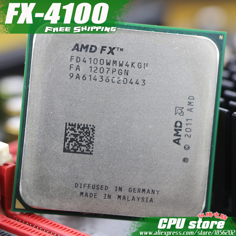 US $23 97 |AMD FX 4100 AM3+ 3 6GHz/8MB/95W Quad Core CPU processor FX  serial pieces FX 4100 (working 100% Free Shipping) sell fx 4300 4200-in  CPUs