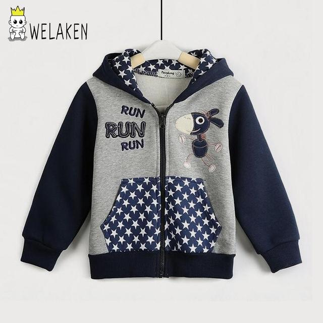 2016 meninos meninas hoodies casaco com capuz crianças outerwear outono inverno bebê dos desenhos animados manga comprida tops crianças clothing