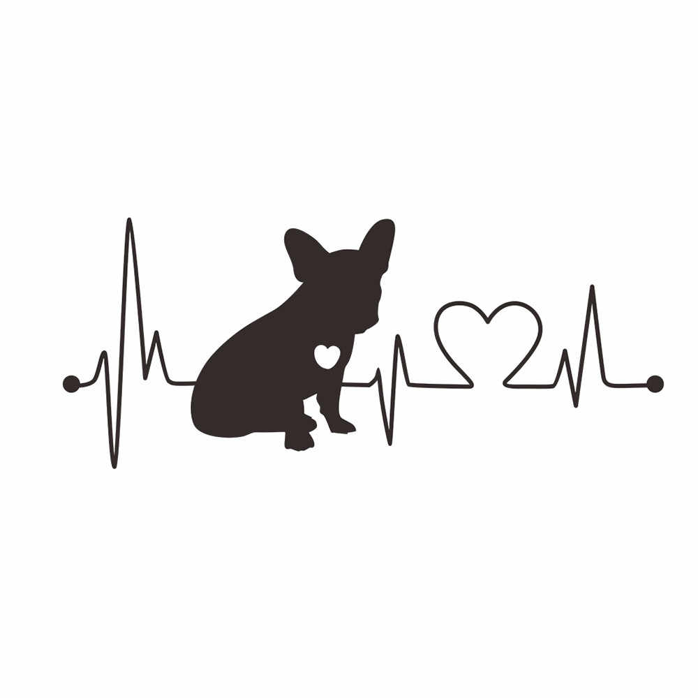 Car sticker funny motorcycle stickers love dogs camper travel hiker camper heartbeat vinyl decal decoration car