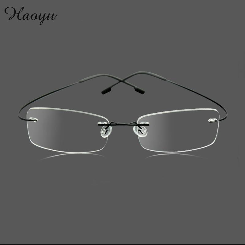 Haoyu Silhouette Ultraleichte Brille Hipster Optische Rahmen ...