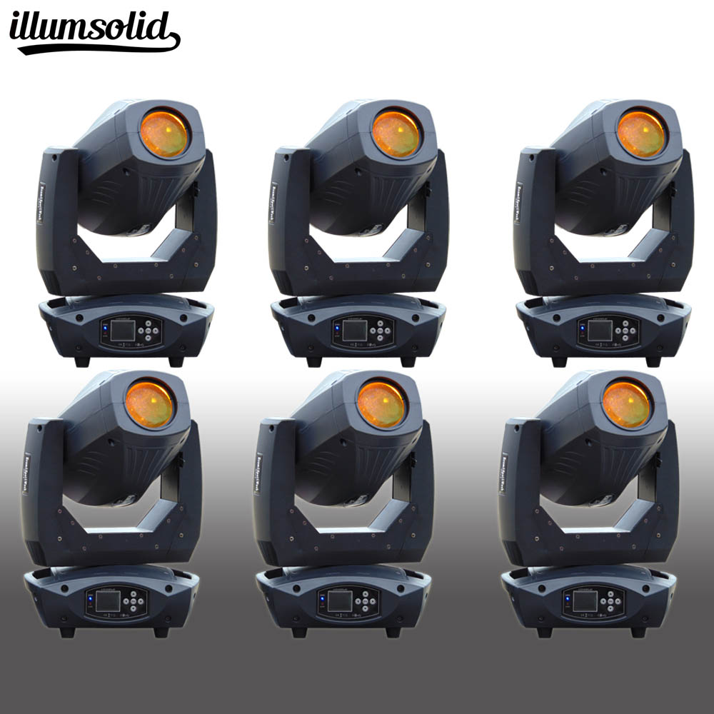 6PCS/LOT Moving Head 200W beam spot light 3 in 1 led gobo in Stage Lighting effect Lamp Christmas KTV Music Party Light
