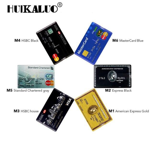 Real Capacity Credit Card Hsbc Visa Cards Mastercard Bank Usb Flash Pen Drive Gb