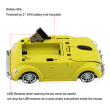 CHYI Wireless Computer Mouse Gamer Cool Beetle Car Shape Mice 1600DPI Optical Gaming Mause With USB Receiver For PC Laptop Gift