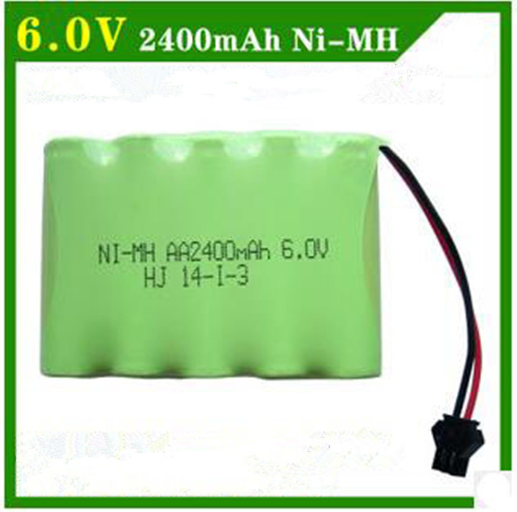 Cncool 6V 2400mAh Remote Control toy electric lighting lighting security facilities AA battery RC TOYS Ni-MH battery group