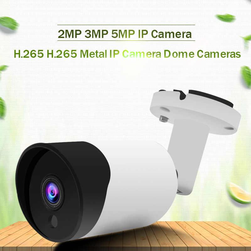H.265 IP PoE камера безопасности Пуля наружная Водонепроницаемая камера видеонаблюдения s H.265 сетевая камера движения 5MP 3MP 2MP