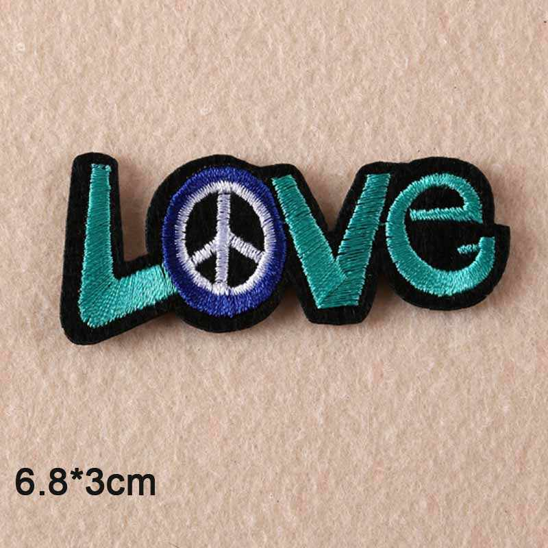 녹색 사랑 평화 테마 철 의류 스티커에 대 한 수 놓은 옷 패치에 의류 의류 액세서리
