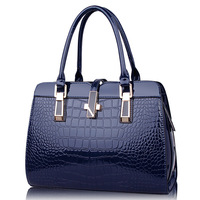 2015 New Patent Leather Handbag Fashion Tide Big Crocodile Handbag Shoulder Bag Diagonal Package Factory Outlets