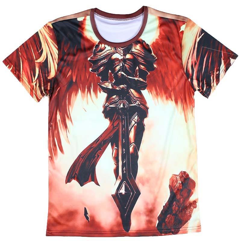 Casual Knight Man T Shirts Stylish Skull Design T Shirts