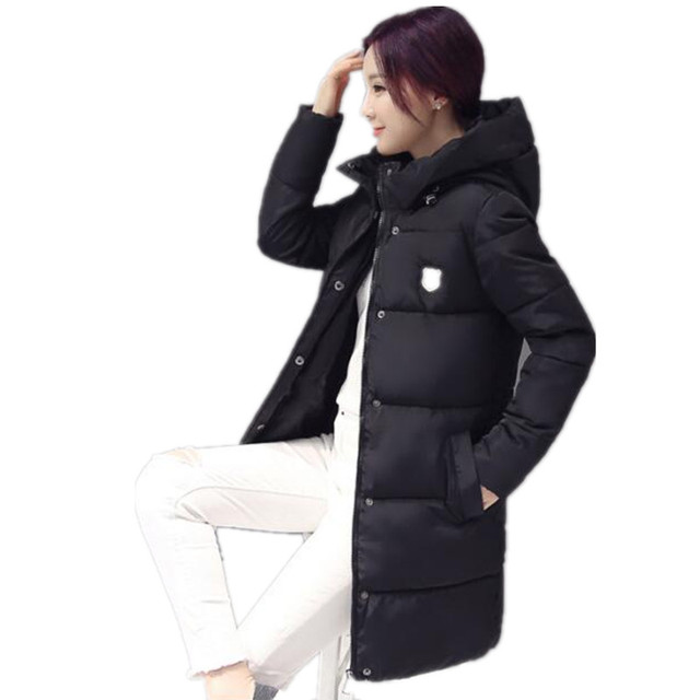 2016 New Women Winter Long Hooded Down Cotton Jacket Casual Padded Warm Thicken Outerwear Coat Windproof Parka Female  YC578