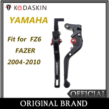 KODASKIN Folding Extendable Brake Clutch Levers for YAMAHA FZ6 FAZER 2004-2010 for yamaha fz6 fazer s2 2004 2010 hot sale high quality short brake clutch levers motocycle black cnc aluminum levers blue color