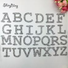 A-Z, 1 шт., стразы, Английский алфавит, буквы, Смешанная вышивка, железная нашивка для одежды, значок, паста для одежды, сумки, штаны, обувь