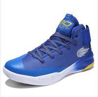 Новые Высокие износостойкие баскетбольные кроссовки мужские Мальчики Аутентичные баскетбольные кроссовки кожаные черные синие баскетбол...