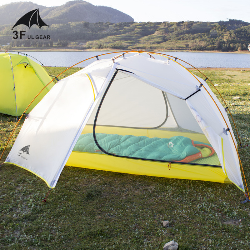 3F UL GEAR Tai Chi 2 Ultralight 2 Persons tent 3 4 Season Camping Tent 15D