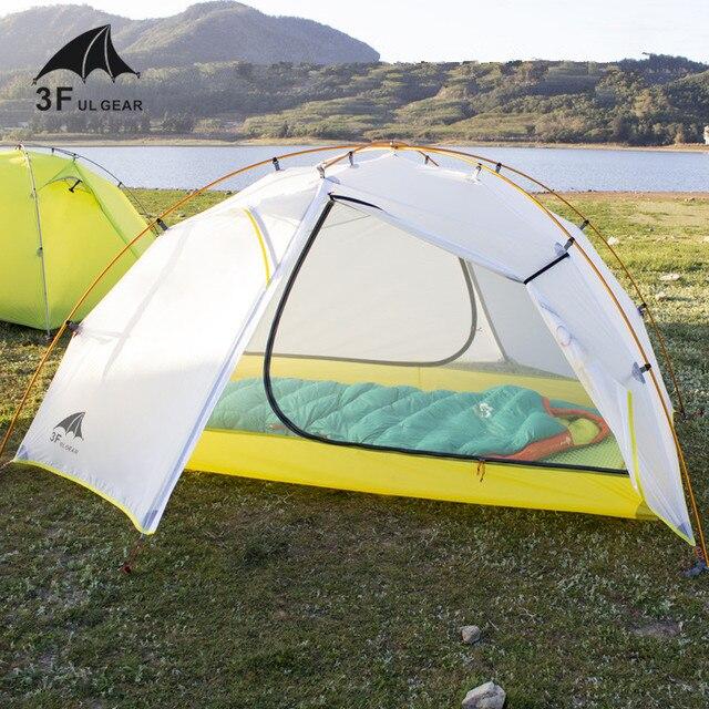 3F UL GEAR Tai Chi 2 خفيفة 2 شخص خيمة 3 4 الموسم التخييم خيمة 15D النايلون النسيج طبقة مزدوجة خيمة مقاومة للماء
