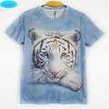 12-18 year teens boys or girls 3D T-shirt new arrive Europe and America style white tiger printed 3D tshirt for big kids CT5