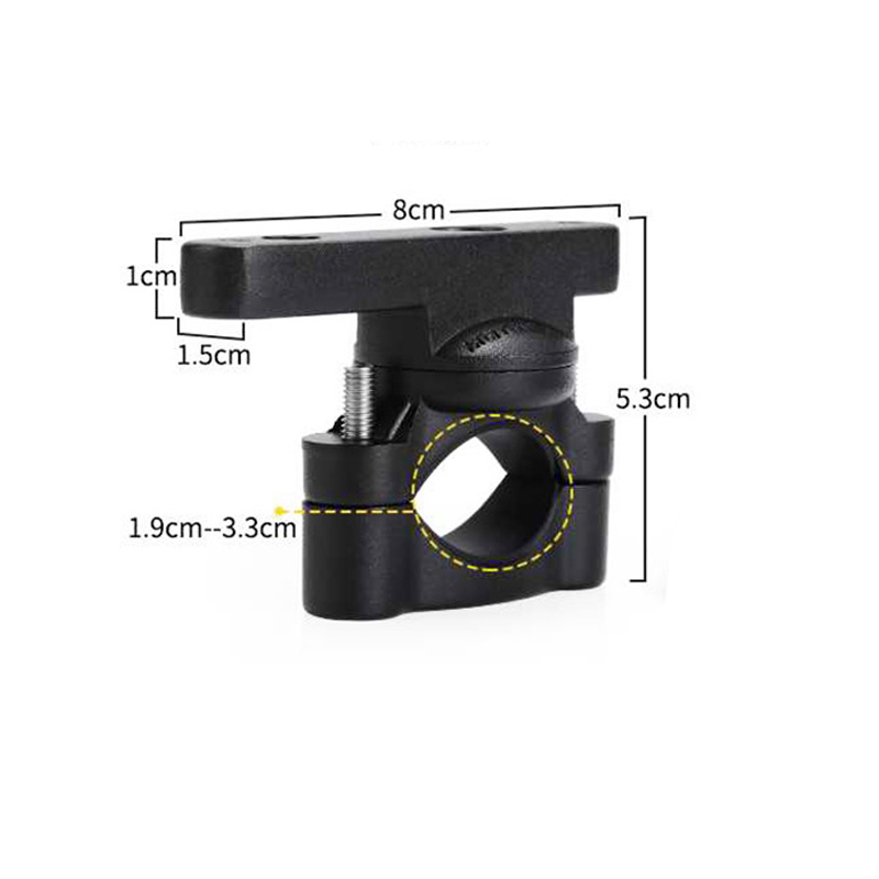 2pcs 19MM-33MM Bull Bar Mount Bracket Fog Driving Light Spotlight Universal Clamp Bracket For Car Motorcycle Crash Bar