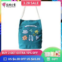 Flower Princess Brand Women Canvas Sling Shoulder Bags for Girls Ladies Floral Printed Tote Bag Handbag bolsa feminina bolsos