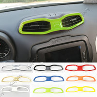 10 Colors ABS Car Dashboard Air Outlet Vent Cover Ring Trim Frame Sticker For Jeep Renegade