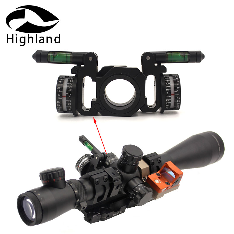 Hunting Scope Metal Scope Ring Angle Indicator Bubble Level  Fit 25.4mm/30mm Scope Mount Rings For Optical Scope Sight