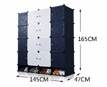 Easy DIY Assembly Wardrobe Closet Plastic Resin Storage Lockers Magic Piece  Of Children Nationwide