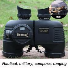 лучшая цена Powerful Military Binoculars Waterproof Nitrogen High Quality 7X50 Rangefinder Telescope HD Big Lens Compass For Camp