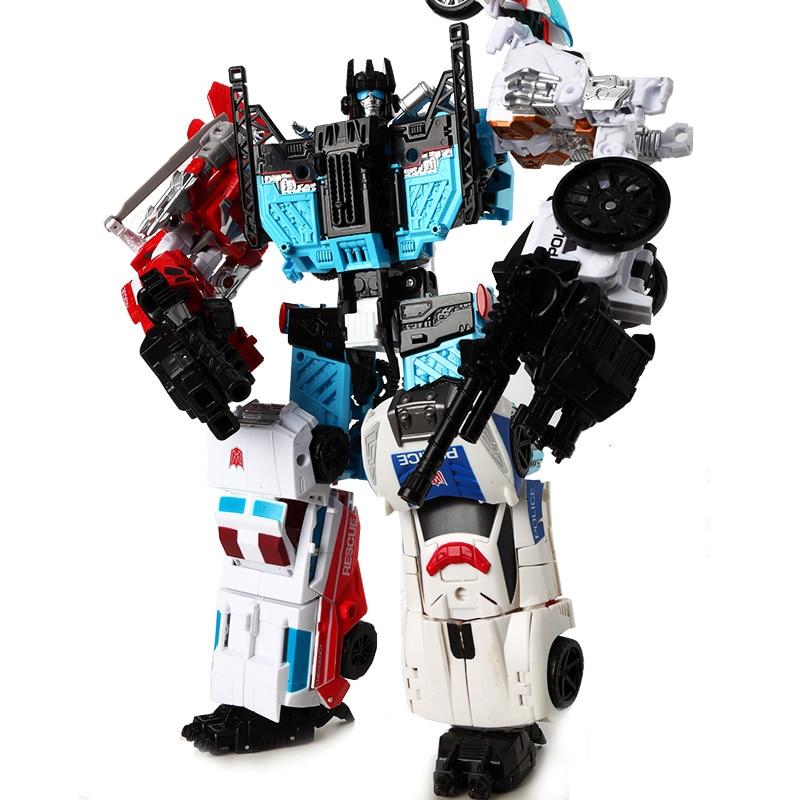 HaiZhiXing Movie 5 IN 1 Transformation Toys boy Oversize Devastator Robot Anime